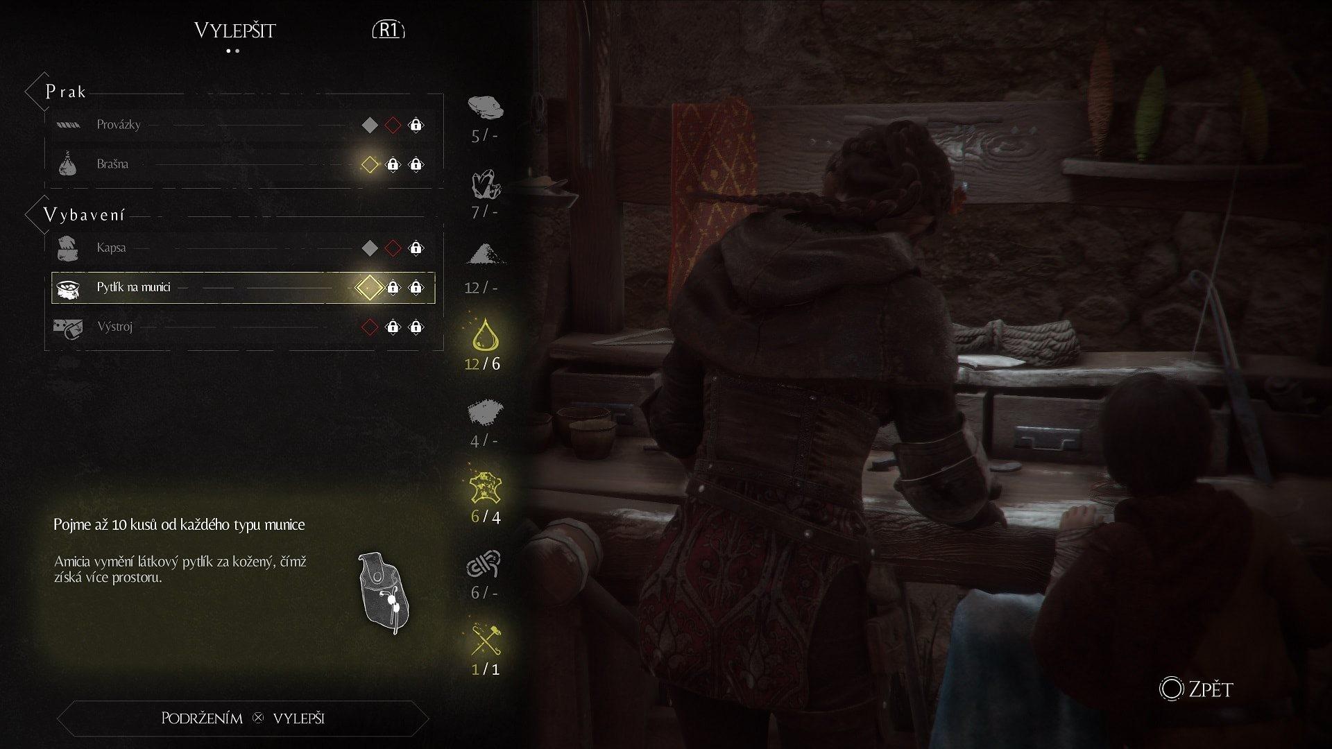 A Plague tale: Innocence; screenshot: crafting