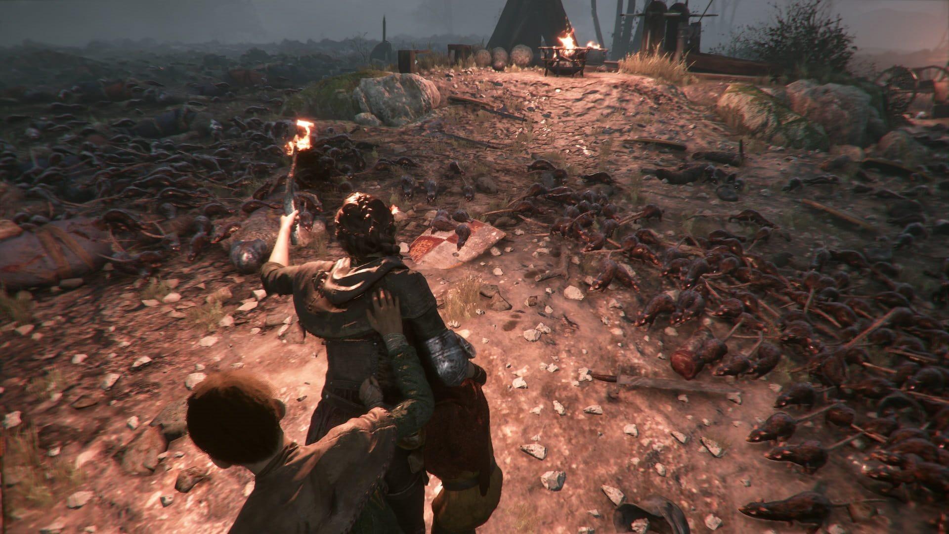 A Plague tale: Innocence; gameplay: pochodeň