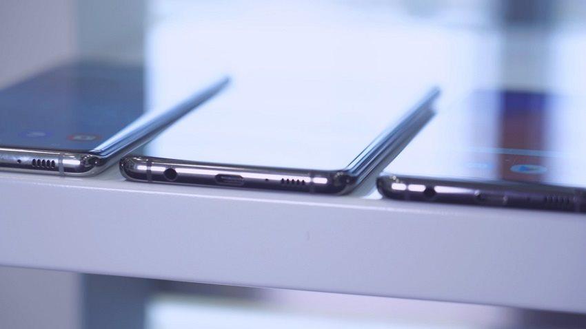 Srovnání šířky: Samsung Galaxy S10, Galaxy S10+ a Galaxy S10e