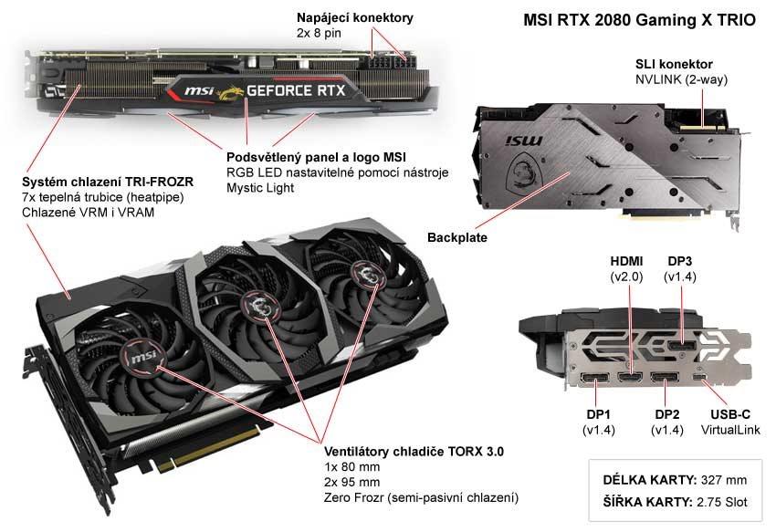 MSI RTX 2080 Gaming X TRIO popis
