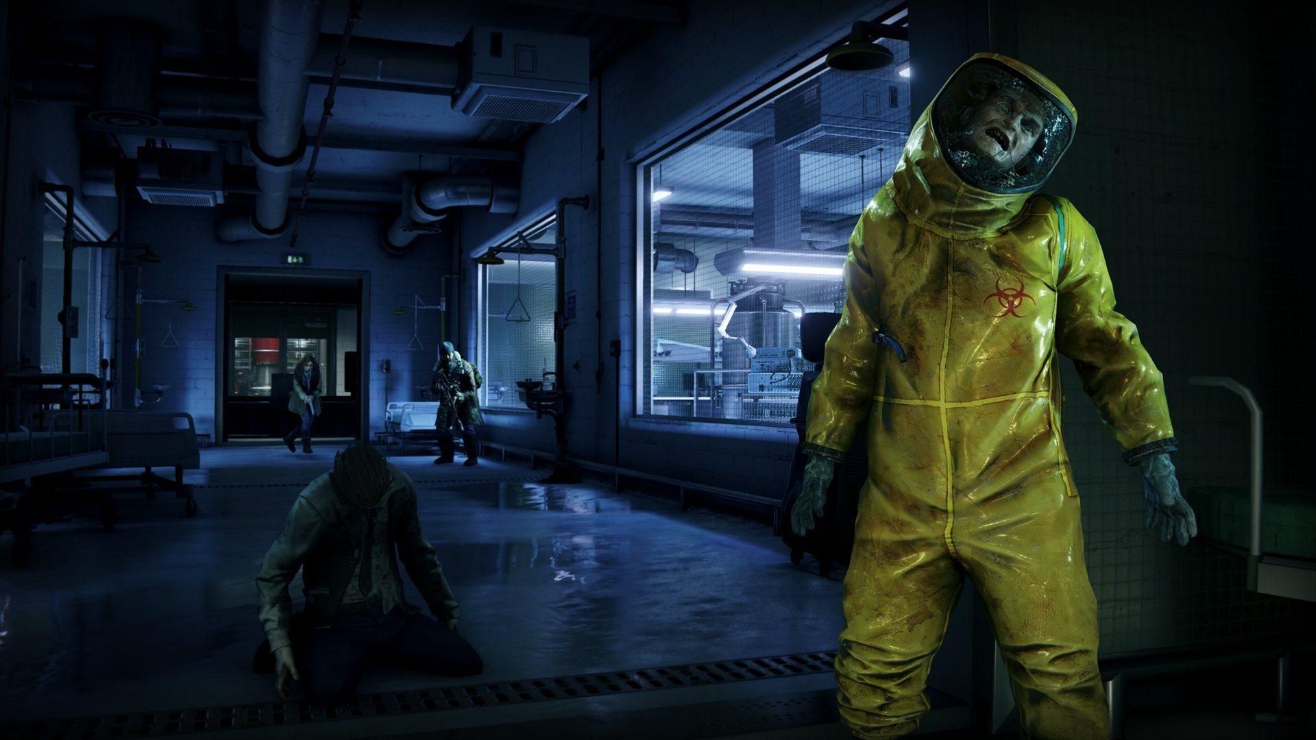 World War Z; gameplay: plynová maska, zombie