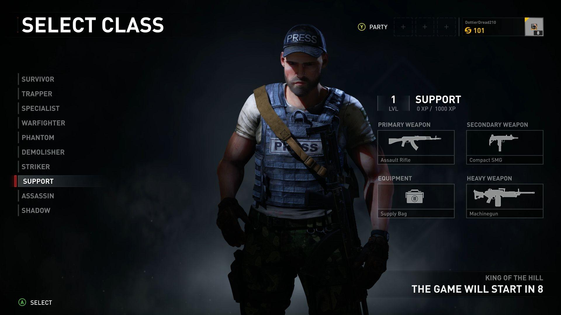 World War Z; screenshot: povolání