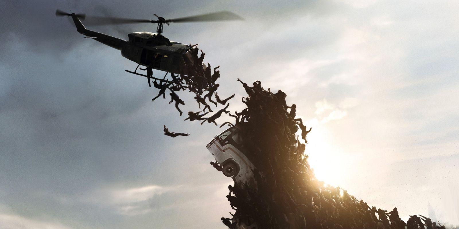World War Z; screenshot: hora, vrtulník