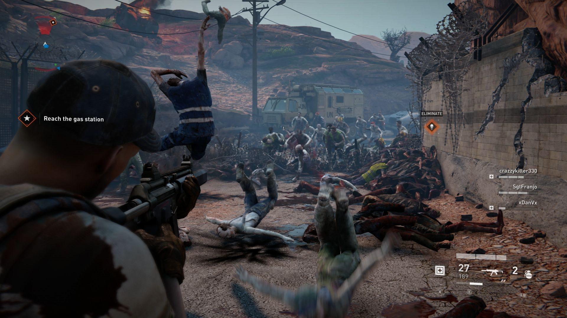 World War Z; screenshot: horda