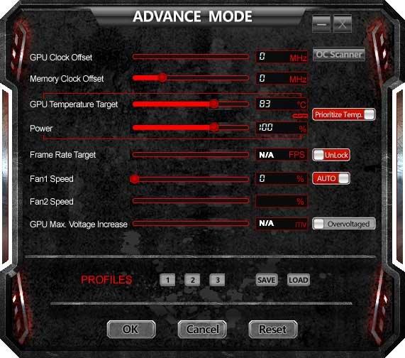 TuneIT; Advanced Mode