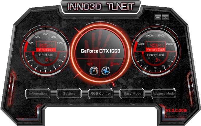 Inno3D GTX 1660 TWIN X2; MSI Afterburner