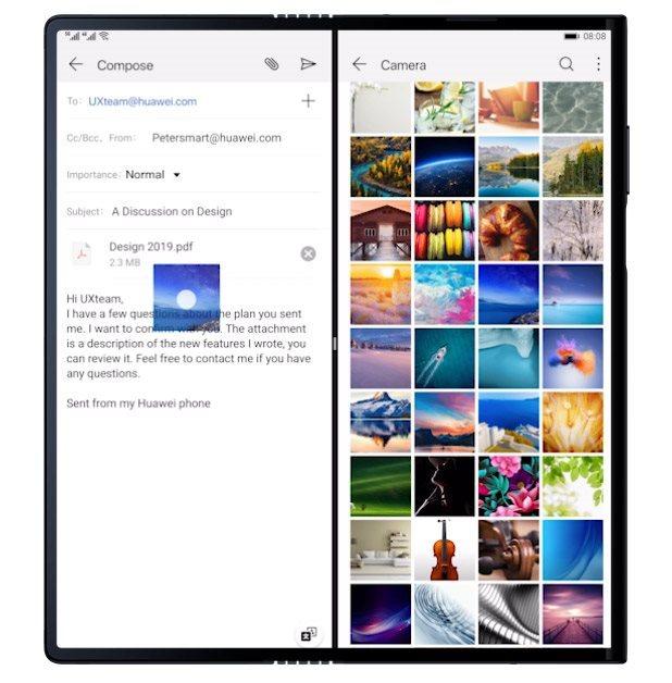 Huawei Mate X a Split Screen