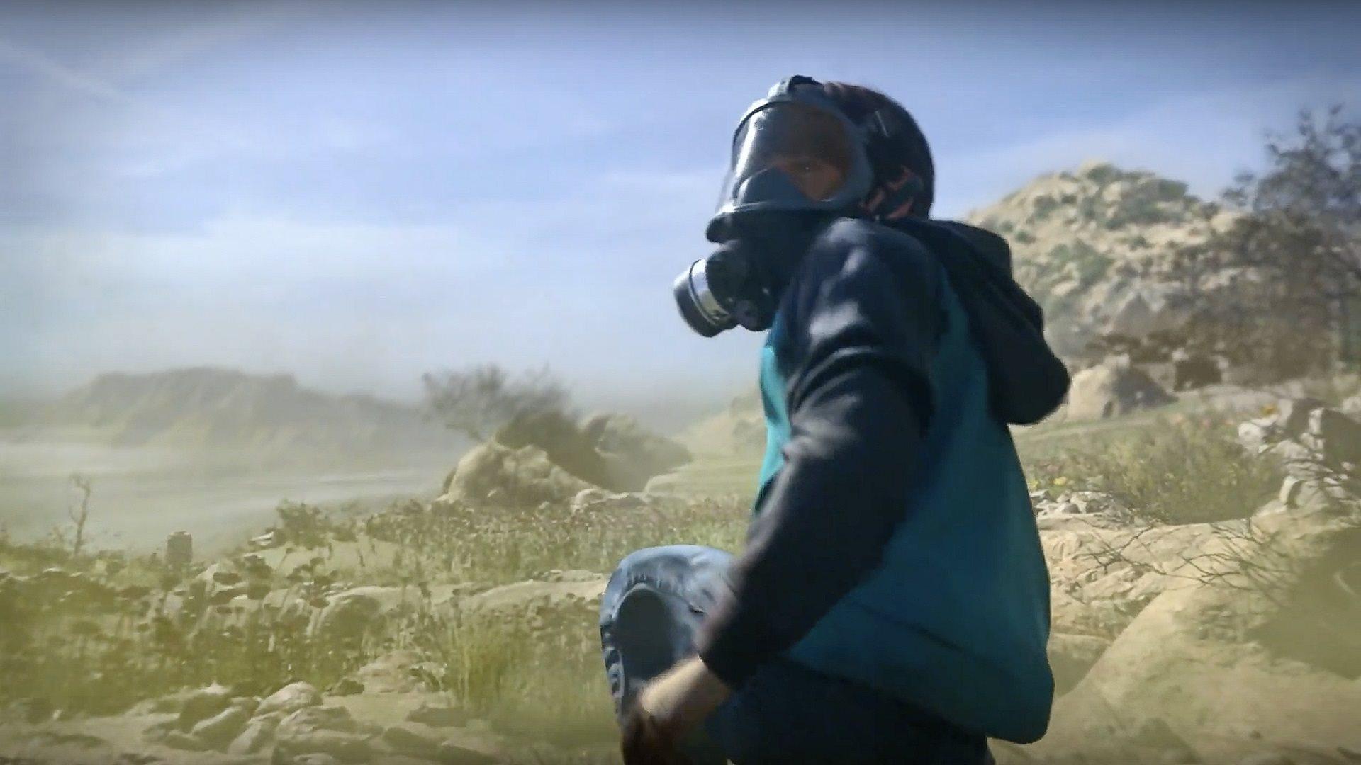Call of Duty: Modern Warfare; screenshot: gas mask