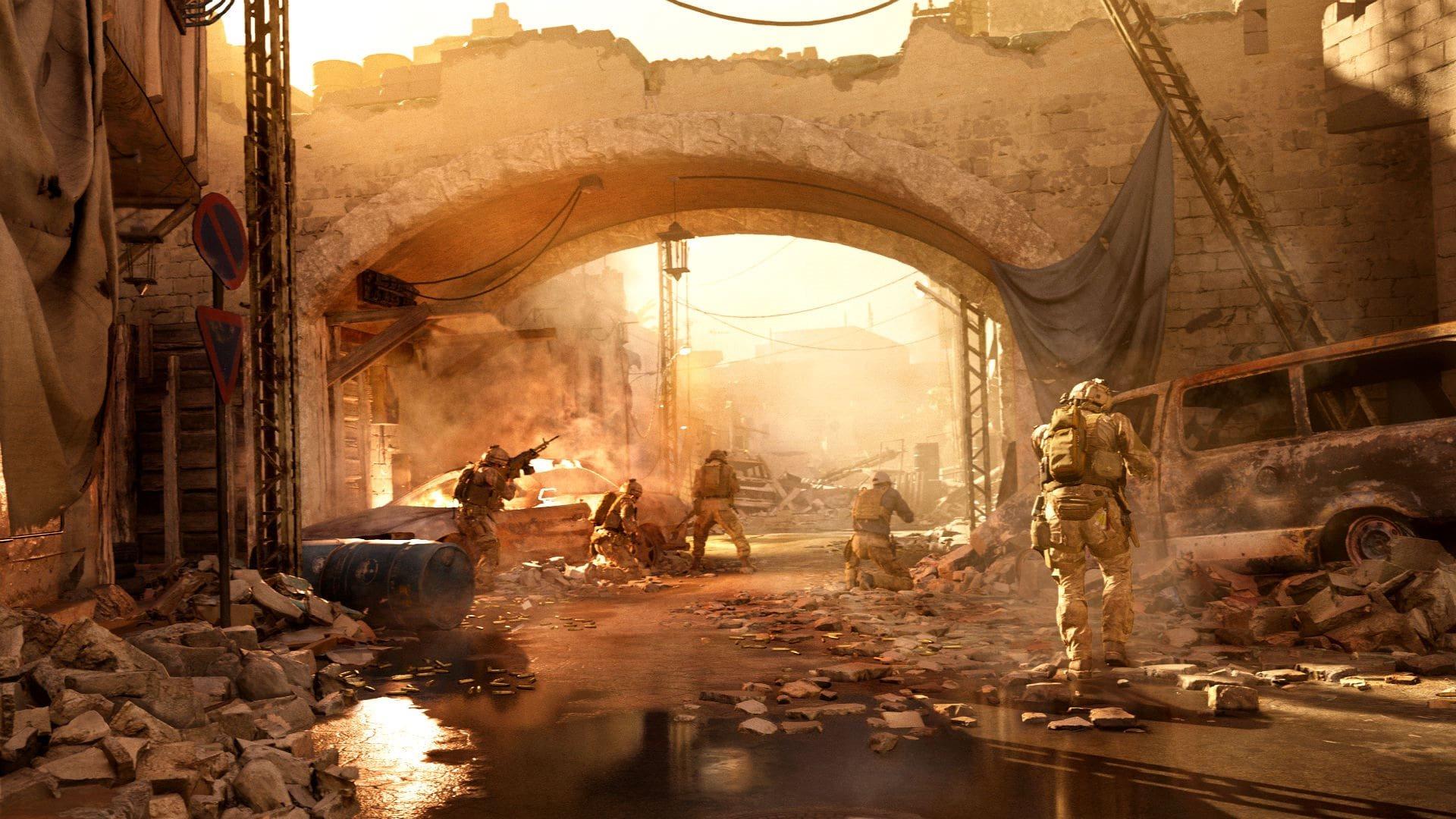 Call of Duty: Modern Warfare; gameplay: desert