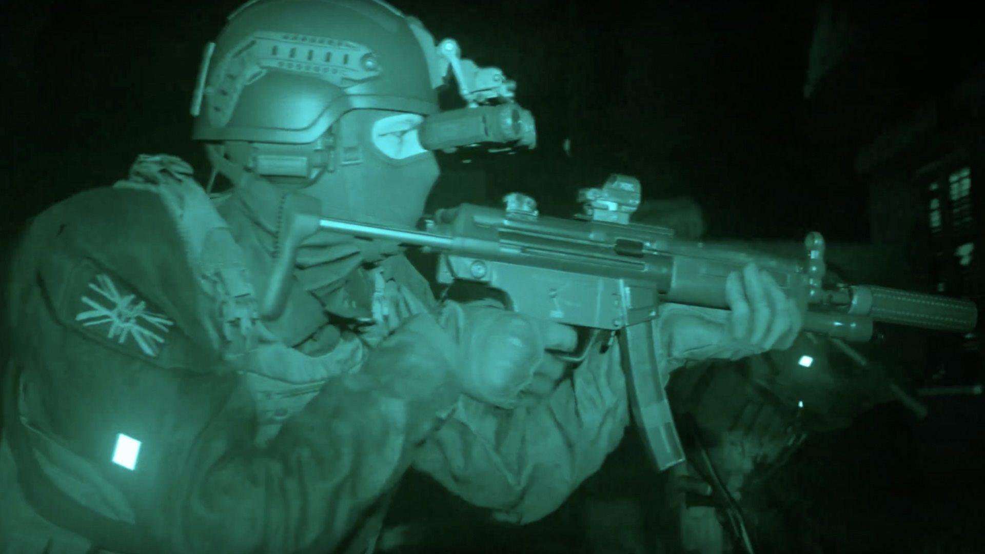 Call of Duty: Modern Warfare; gameplay: going dark