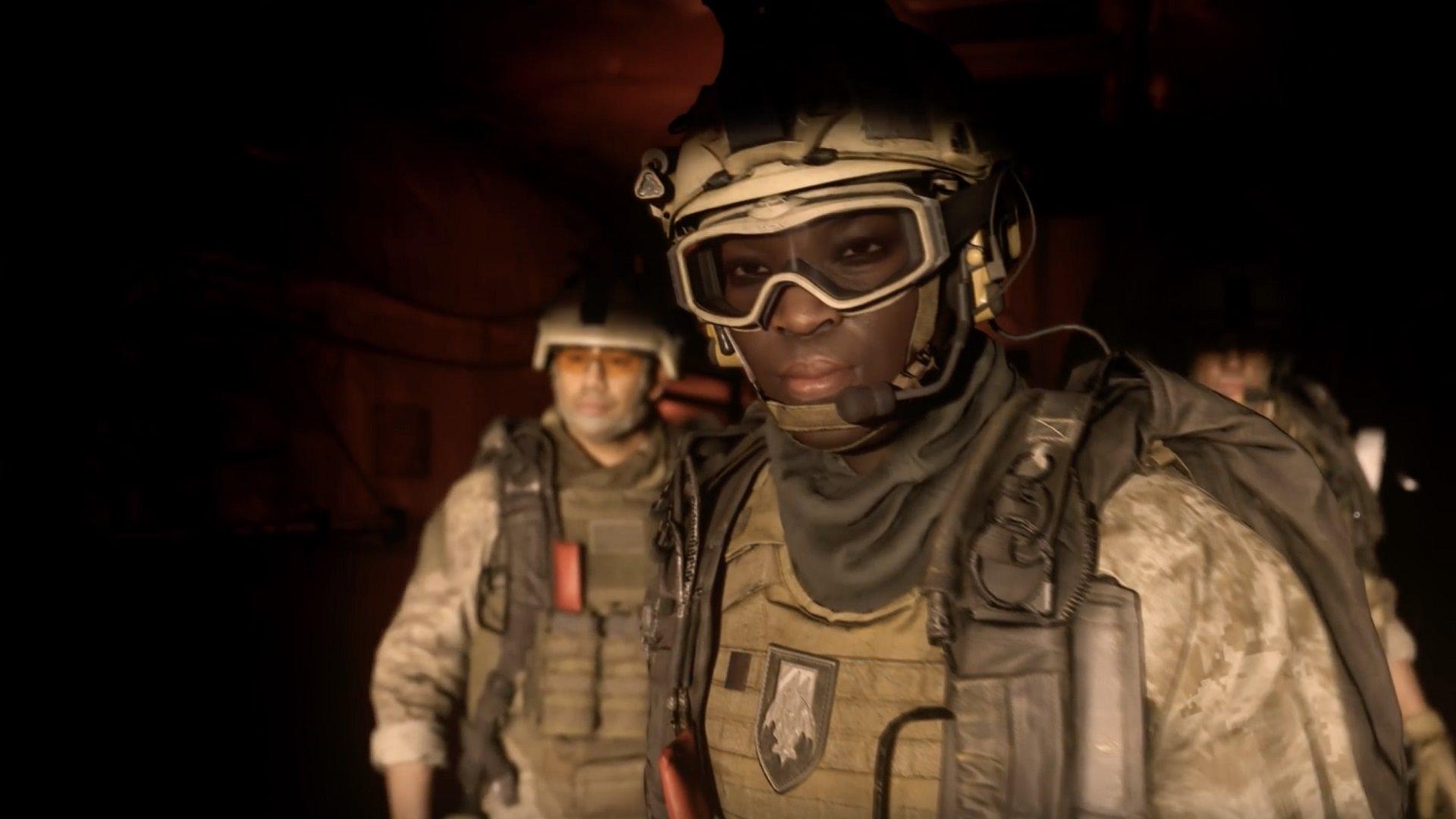 Call of Duty: Modern Warfare; screenshot: soldier