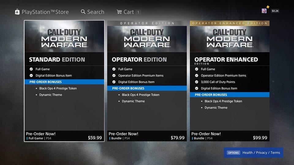 Call of Duty: Modern Warfare; screenshot: edice