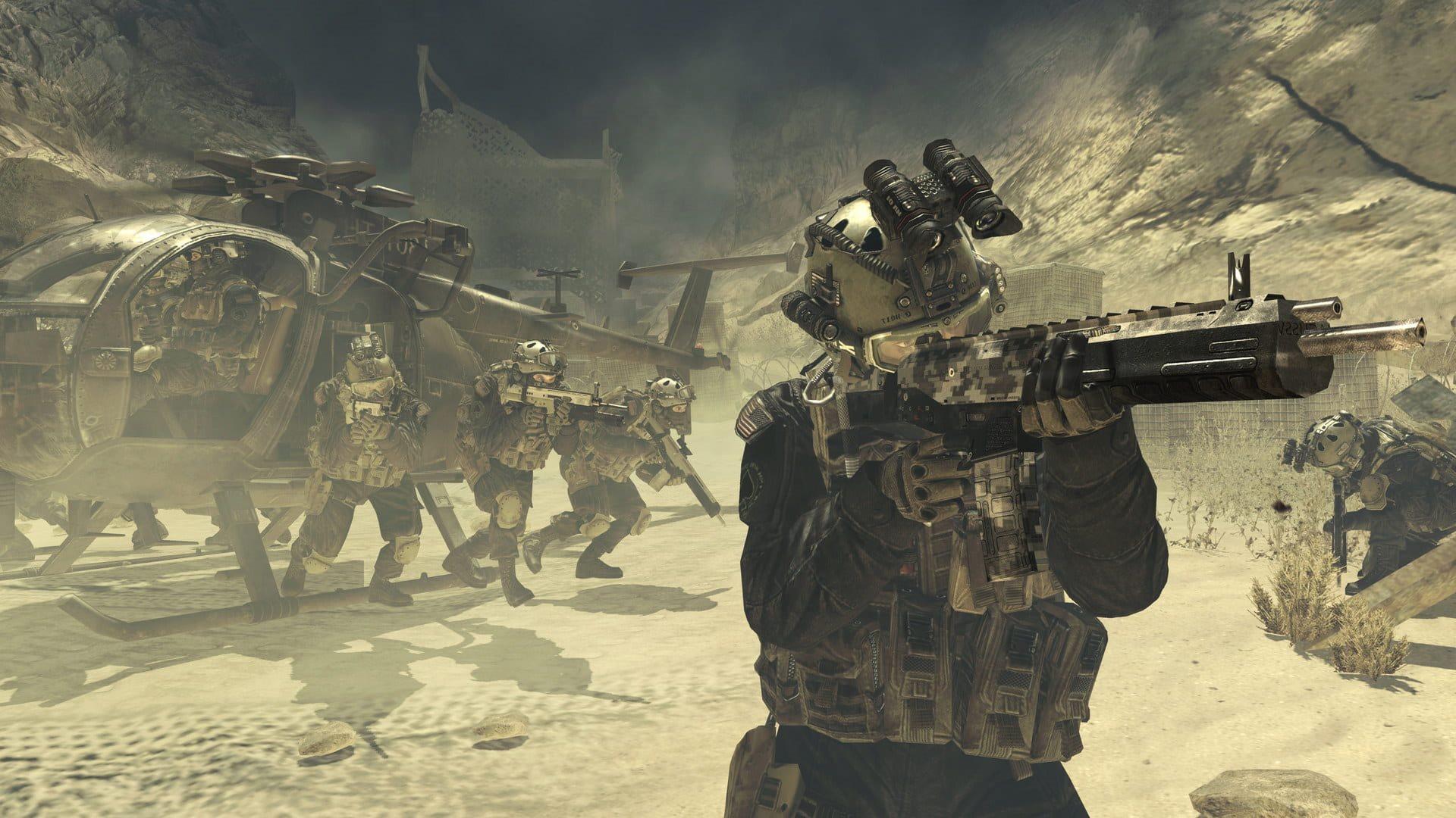 Call of Duty: Modern Warfare 2; gameplay: výsadek