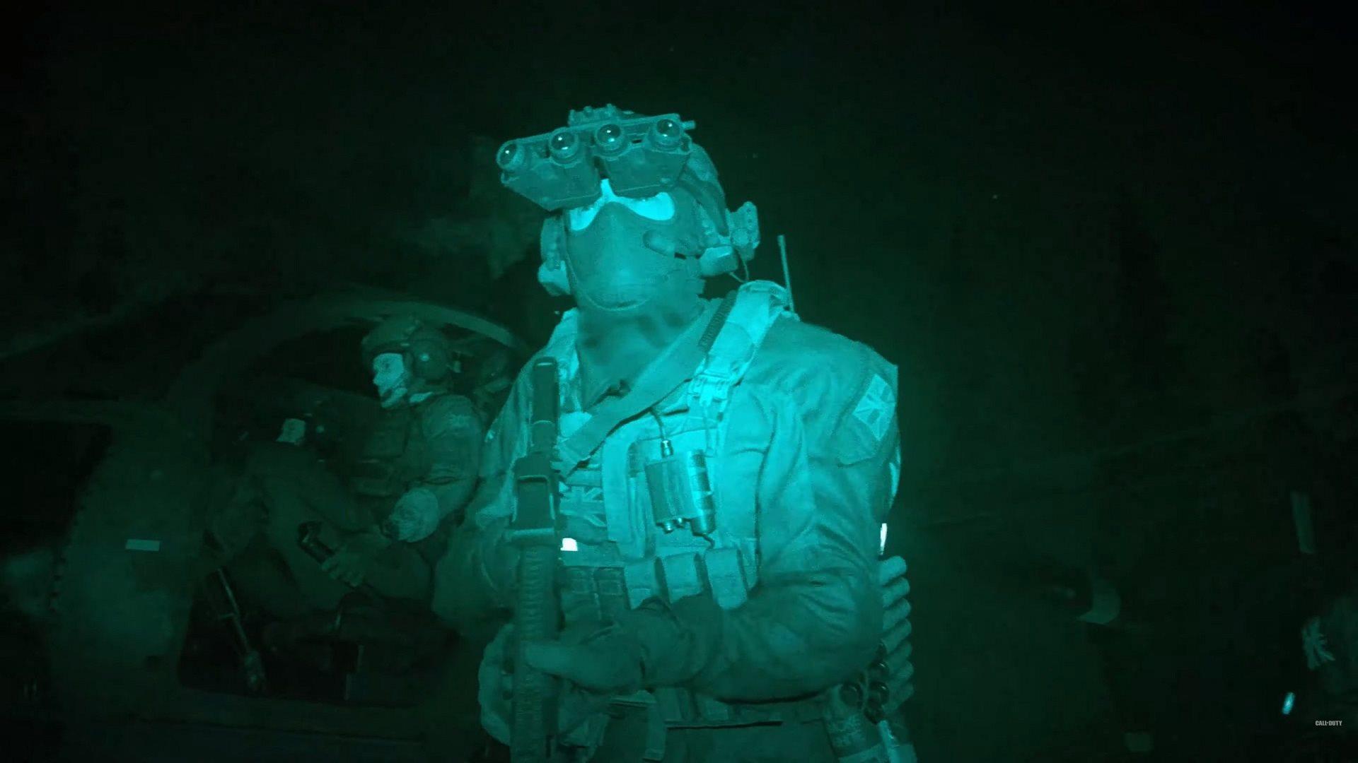 Call of Duty: Modern Warfare; screenshot: night vision