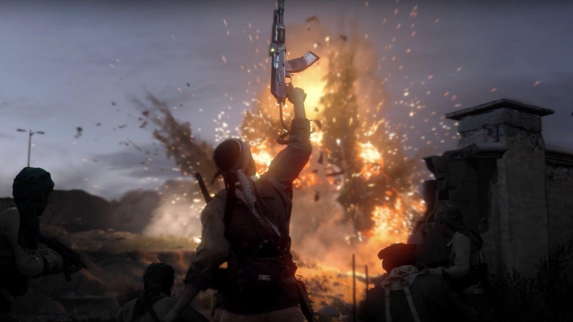 Call of Duty: Modern Warfare; screenshot: výbuch