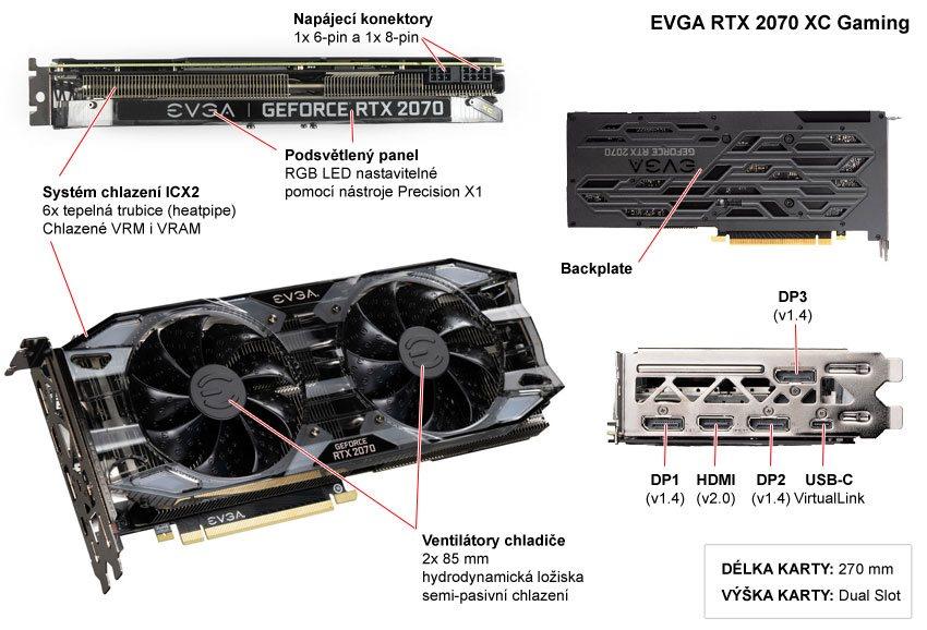 EVGA RTX 2070 XC Gaming popis