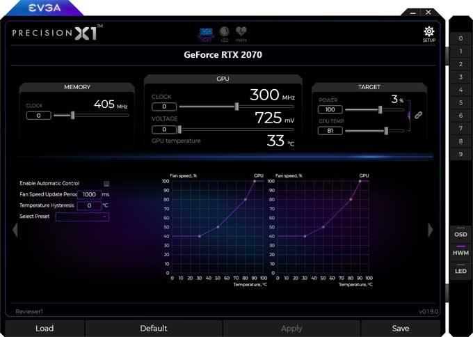 EVGA RTX 2070 XC Gaming Gaming Precision X1 1