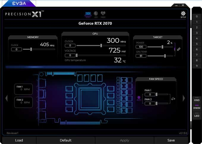 EVGA RTX 2070 XC Gaming Gaming Precision X1
