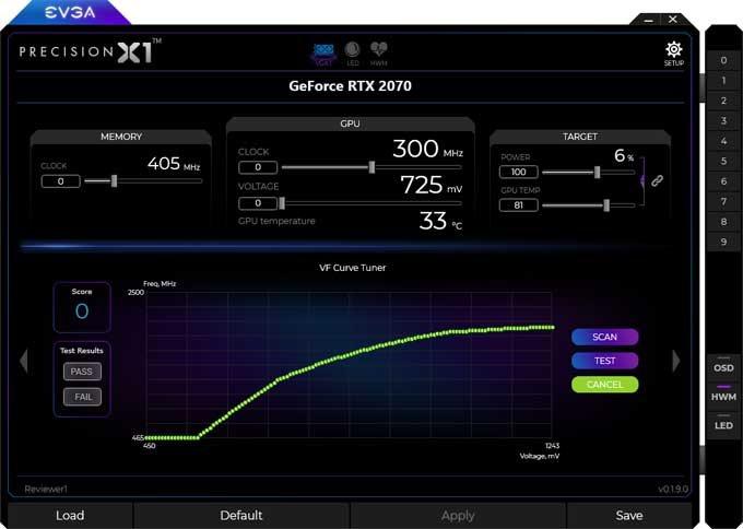 EVGA RTX 2070 XC Gaming Gaming Precision X1 3