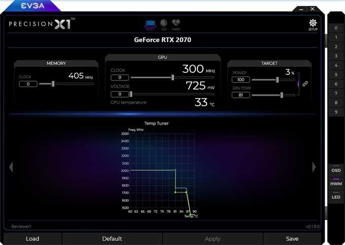 EVGA RTX 2070 XC Gaming Gaming Precision X1 4