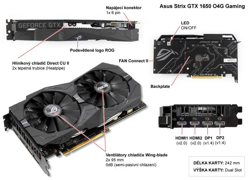 Asus Strix GTX 1650 O4G Gaming popis