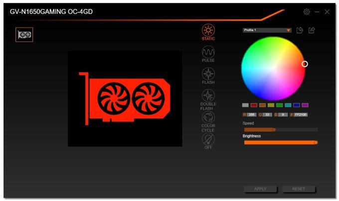 Gigabyte GTX 1650 Gaming OC 4G RGB Fusion