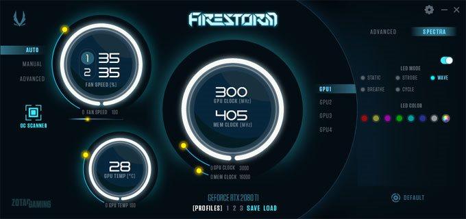 ZOTAC Gaming RTX 2080 Ti Triple Fan FireStorm Advanced