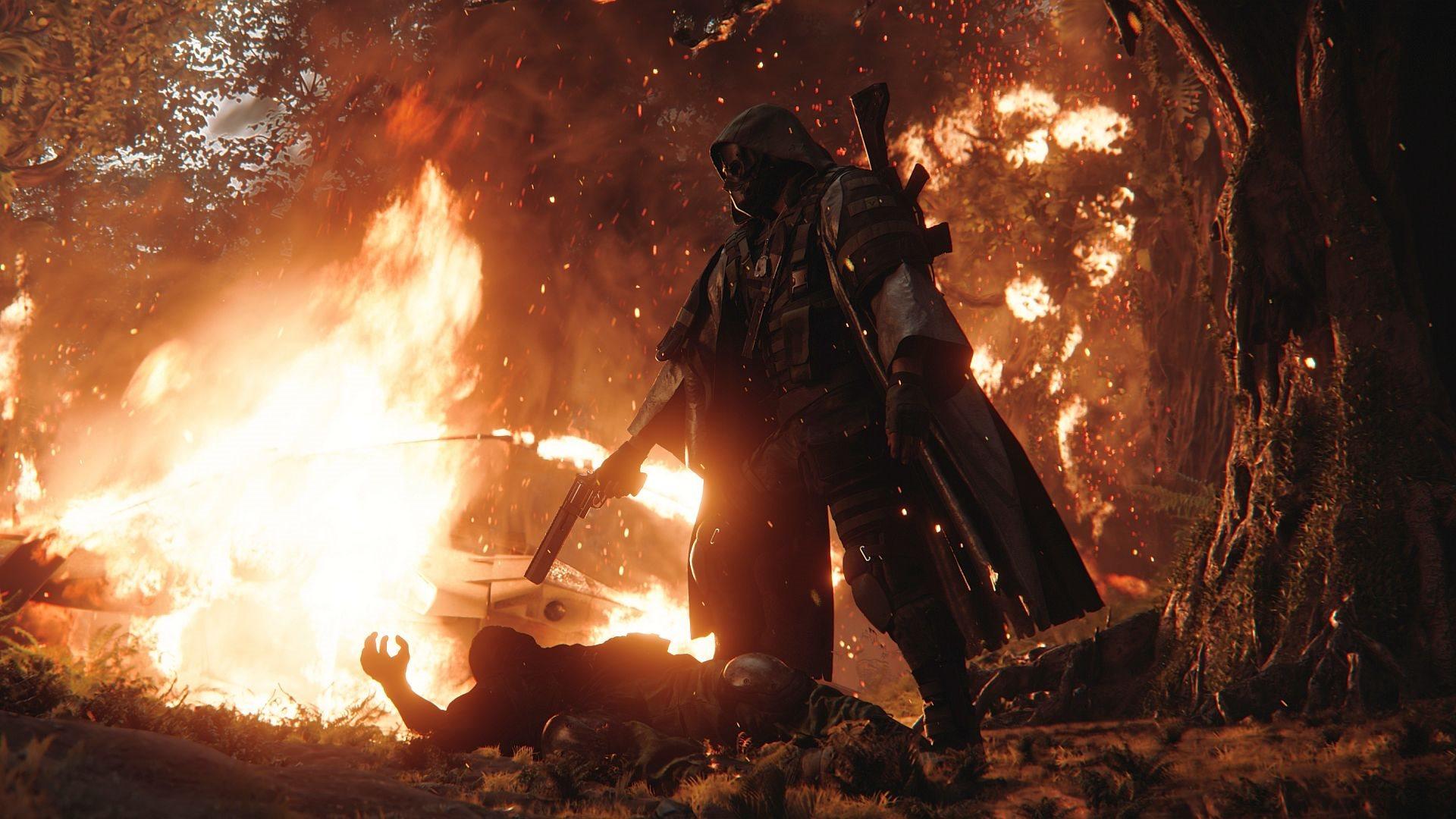 Ghost Recon Breakpoint; screenshot: oheň