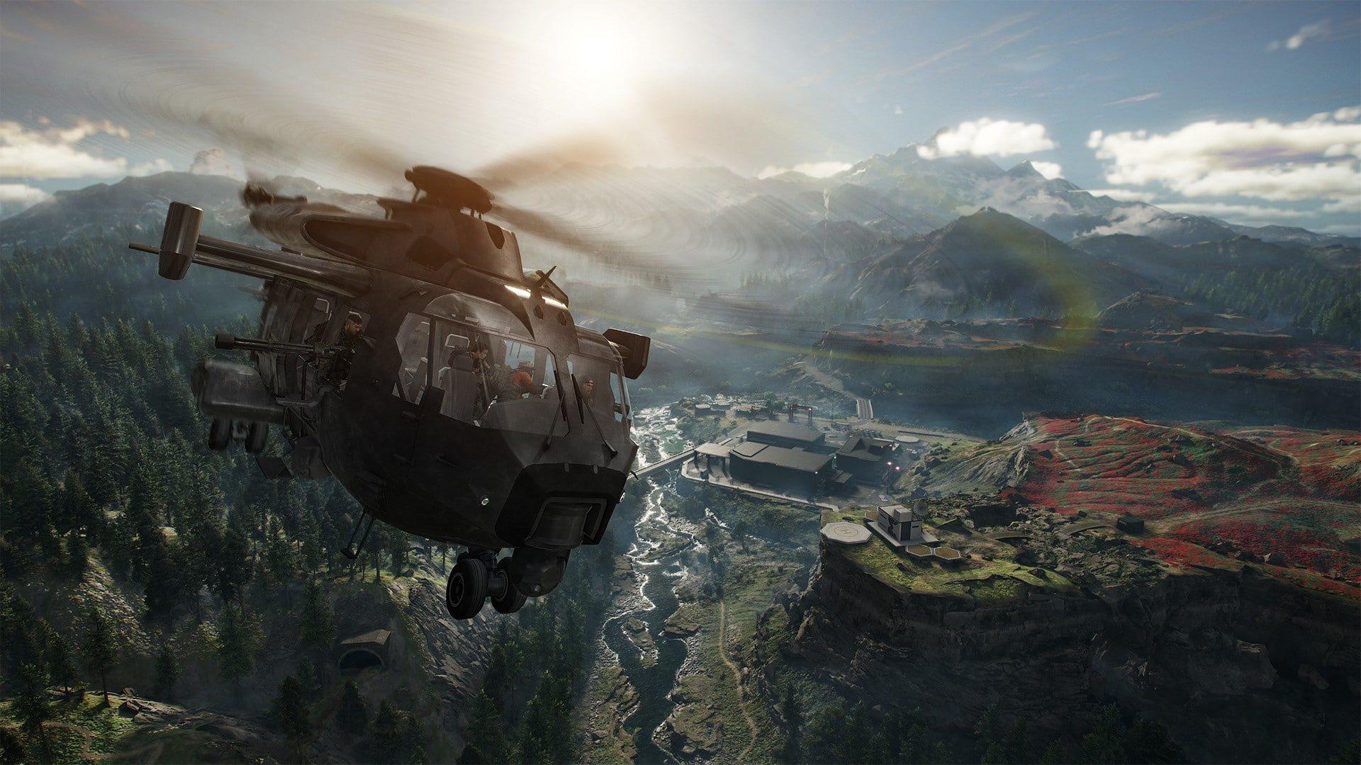Ghost Recon Breakpoint; screenshot: vrtulník
