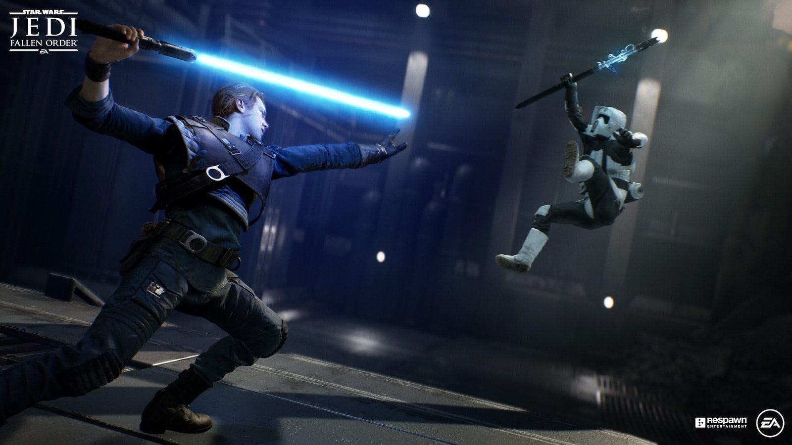 Star Wars Jedi: Fallen Order; screenshot: souboj