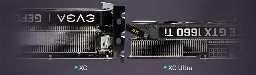 EVGA  GTX 1660 Ti XC Black Gaming; systém chlazení