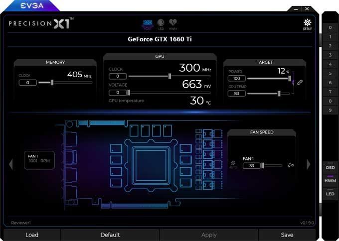 EVGA  GTX 1660 Ti XC Black Gaming Gaming Precision X1