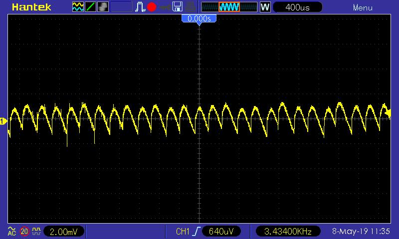 Zvlnění +5V SB větve, 50 mA zátěž; Seasonic SSR-600TL