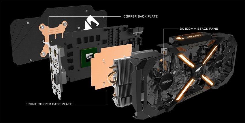 Gigabyte AORUS RTX 2060 XTREME 6G; systém chlazení