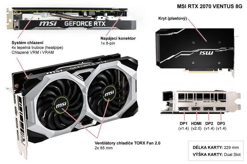 MSI RTX 2070 Ventus 8G; popis