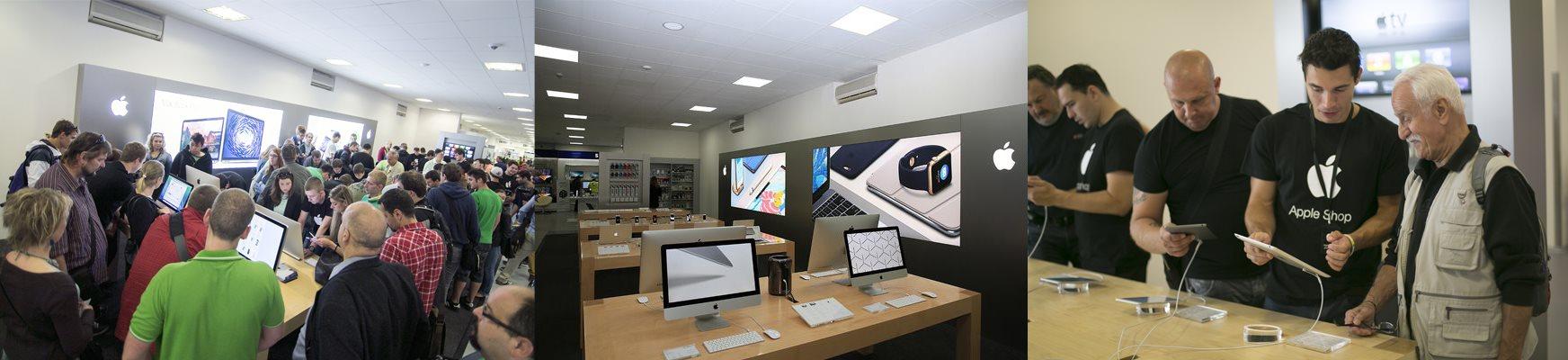 Holešovický showroom Alza.cz: Apple