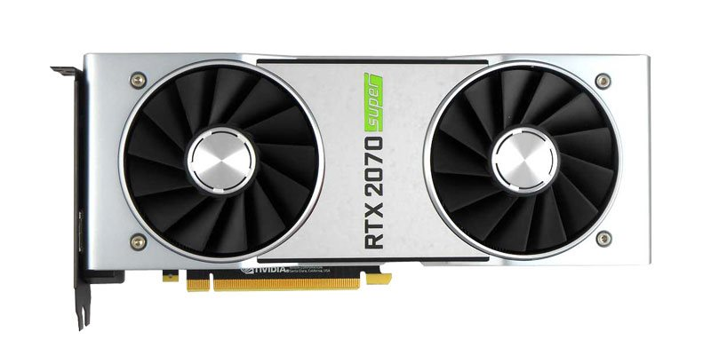 NVIDIA RTX 2070 SUPER Founders Edition v testech