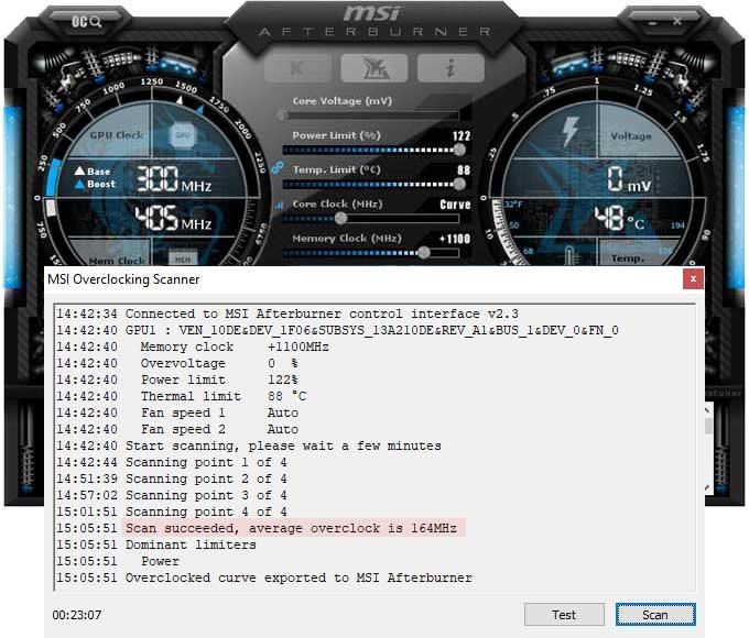 Přetaktování NVIDIA RTX 2060 SUPER Founders Edition; Afterburner