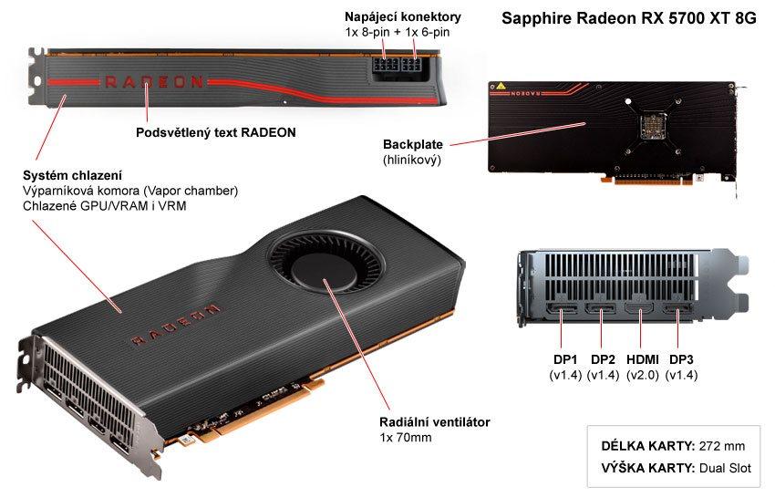 Sapphire RX 5700 XT 8G popis