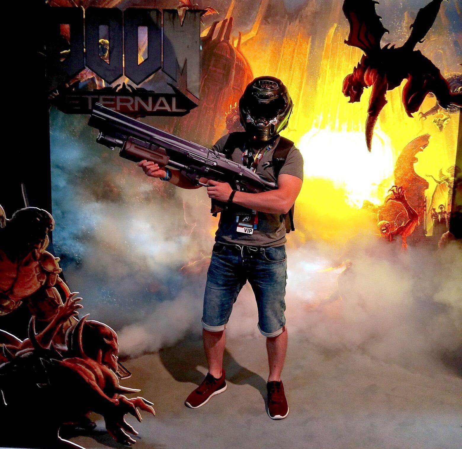 Gamescom 2019, Filip Němec the Doomguy