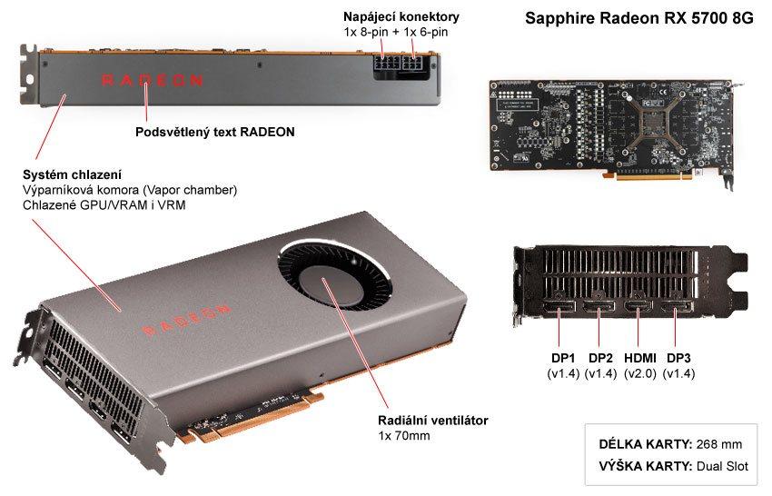 Sapphire RX 5700 8G; popis