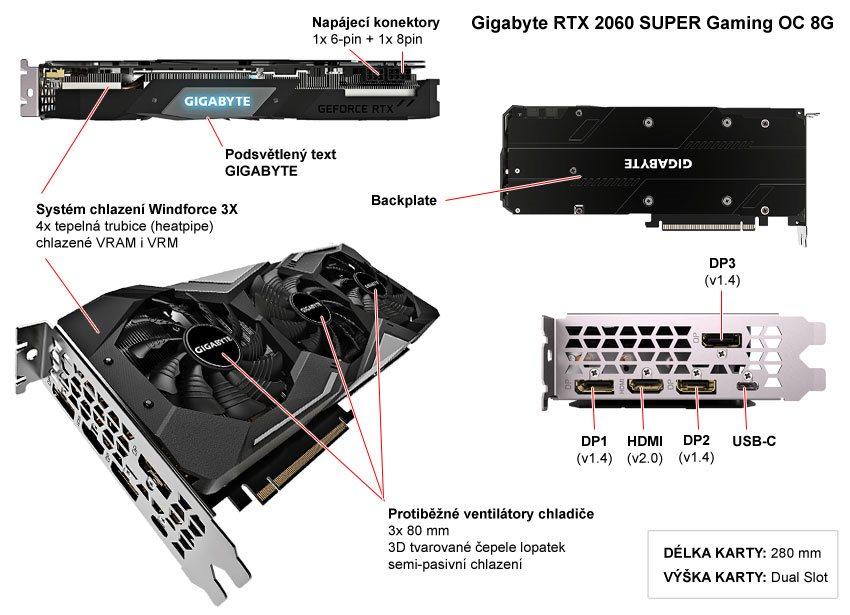 Gigabyte RTX 2060 Super Gaming OC; popis