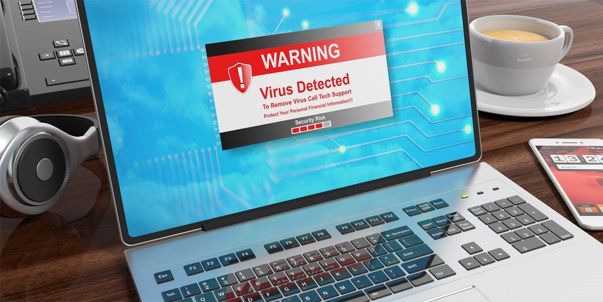 Počítačový vir nalezen