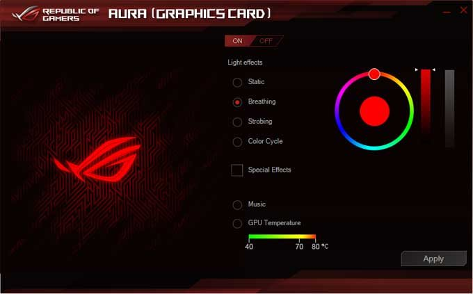 Asus Strix RTX 2080 O8G Gaming Aura