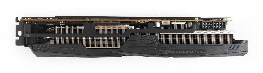 Asus Strix RX 5700 O8G Gaming; horní strana