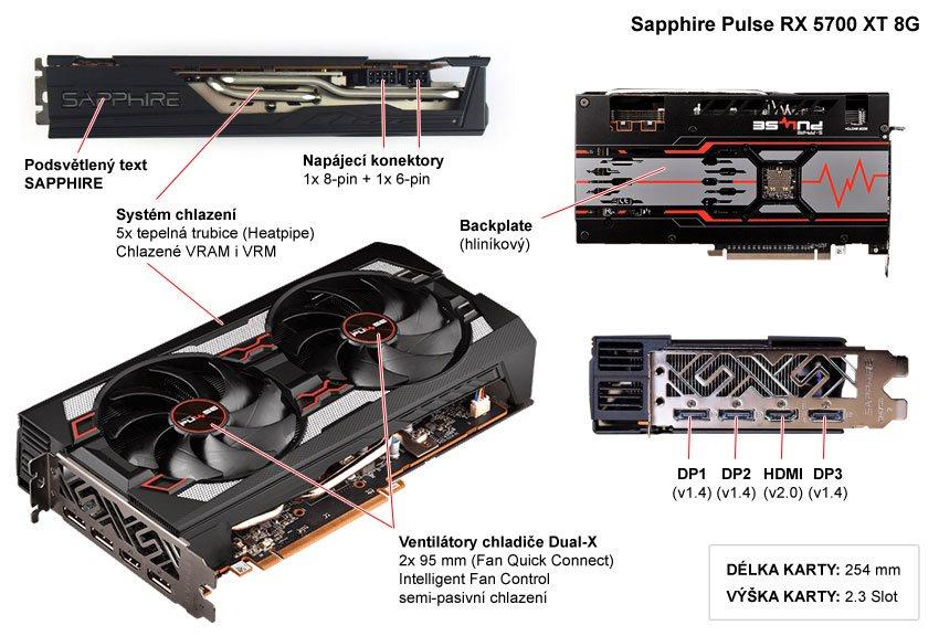 Sapphire Pulse RX 5700 XT 8G; popis