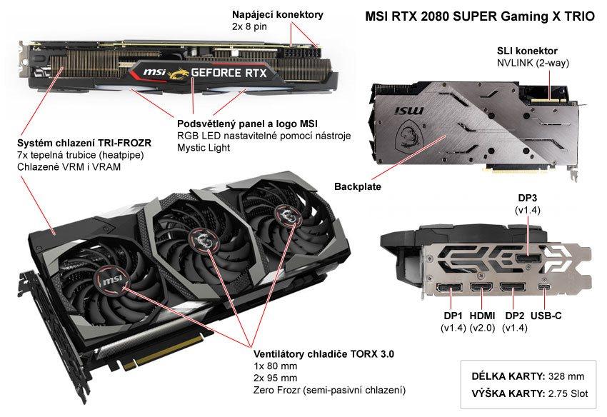 MSI RTX 2080 Super Gaming X TRIO; popis