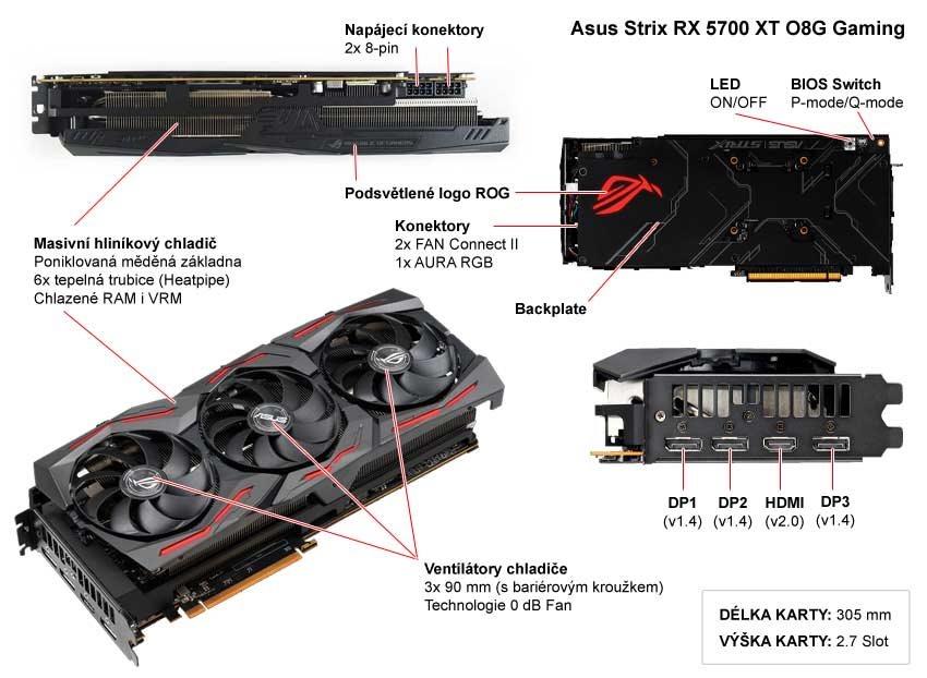 Asus Strix RX 5700 XT O8G Gaming; popis