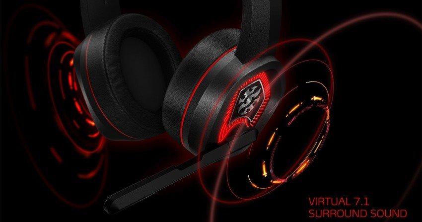 Headsety Adata XPG surround sound