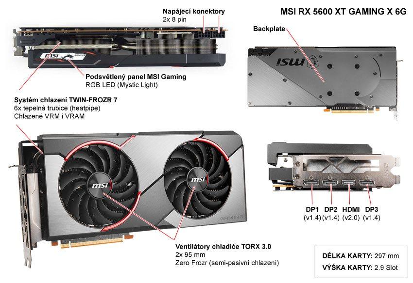 MSI RX 5600 XT Gaming X 6G; popis